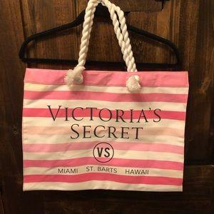 Victoria Secret tote bag.